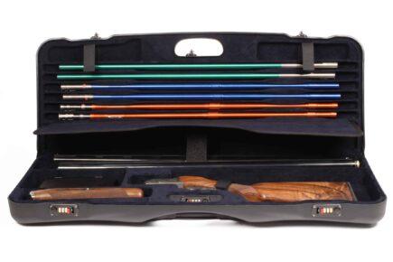 Negrini Shotgun Cases - 1652LR/5040 Tube Set high rib shotgun case - Zoli Shotgun