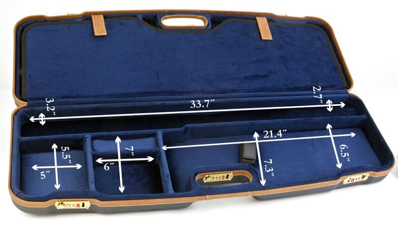 Negrini Shotgun Cases - 1622LX/5136 Two Gun Case - Internal dimensions