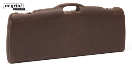 Negrini Rifle Cases - 1623PL-EXP/4815 One rifle with scope - exterior Italian Leather