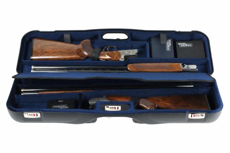 Negrini 1646LR-2F+1C/4764 2 Gun/3 Barrel Case ZOLI Shotguns