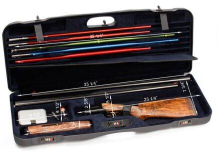 Negrini Gun Cases - 1652LR/5040 Tube Set high rib shotgun case dimensions