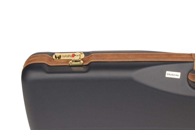 Negrini 1605LX/5138 OU/SxS Shotgun Case for Travel - locks and trim