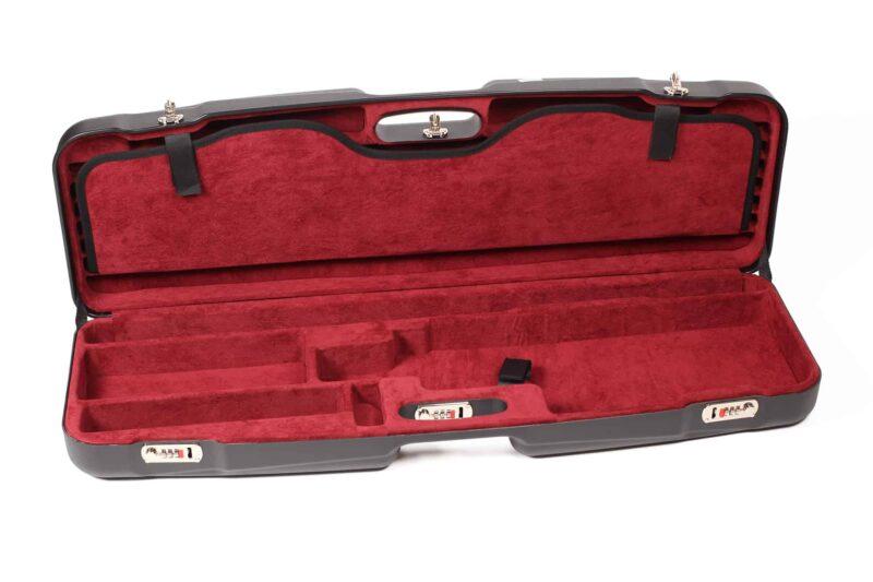 Negrini Gun Cases - 1622LR-TS - High Rib Shotgun case + Tube Sets interior bottom