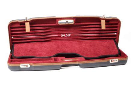 Negrini Shotgun Cases - 1622LX-TS/5228 - High Rib Shotgun case + Tube Sets - top dimensions