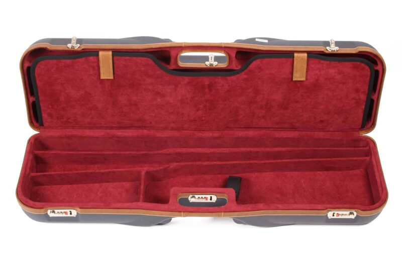 Negrini Gun Cases - 1646LX-4C - Leather trim four barrel shotgun case