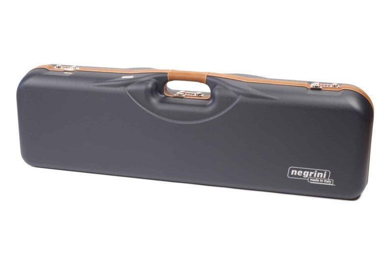 Negrini Gun Cases - 1646LX-4C - Leather trim 4 barrel shotgun case exterior