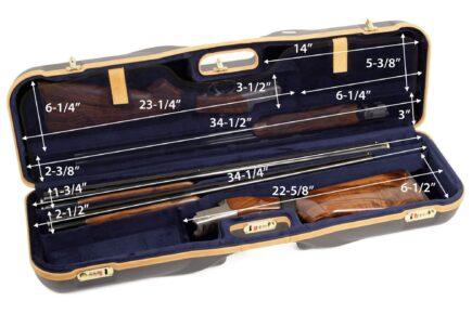 Negrini 1646LX-2F+1C/4766 Shotgun Case - interior dimensions