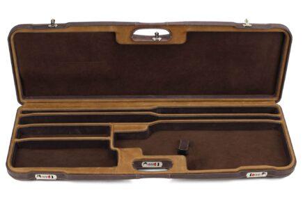 Negrini O/U Superlative Leather High Rib Trap/Sporting Combo Shotgun Case - 1653PPL/5054 - interior
