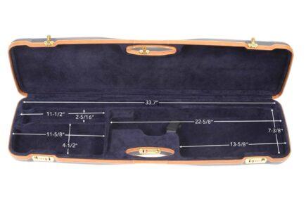Negrini Shotgun Cases - 1654LX - High rib shotgun case interior dimensions