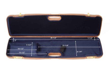 Negrini Gun Cases - 1605PL - Leather shotgun case interior dimensions