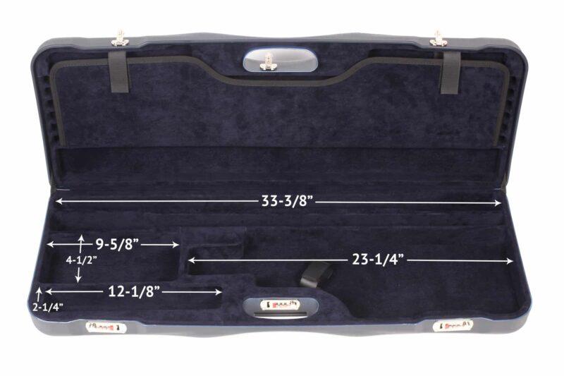 Negrini Shotgun Cases - Tube Set Case - 1652LR-TS/5128 bottom dimensions