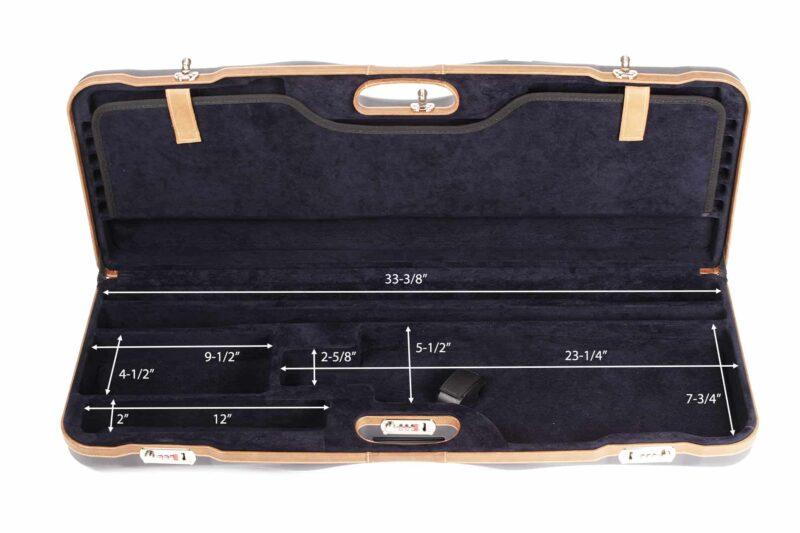 Negrini Shotgun Cases - 1652LX-TS/5212 Breakdown Shotgun Tube Set Case bottom dimensions
