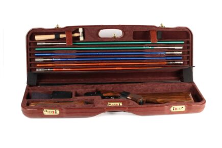 Leather Skeet Shotgun Case + Tube Set - 1659PL-TUBE/5246 interior
