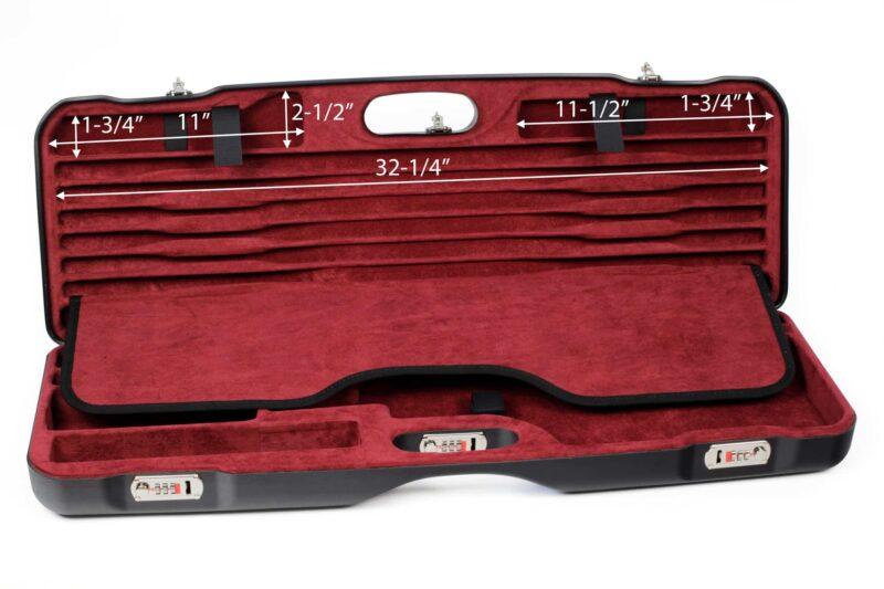 Negrini Skeet Tube Set Case 1659LR-TS/5160 top dimensions