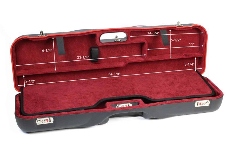 Negrini 1646LR Shotgun Luggage interior top dimensions