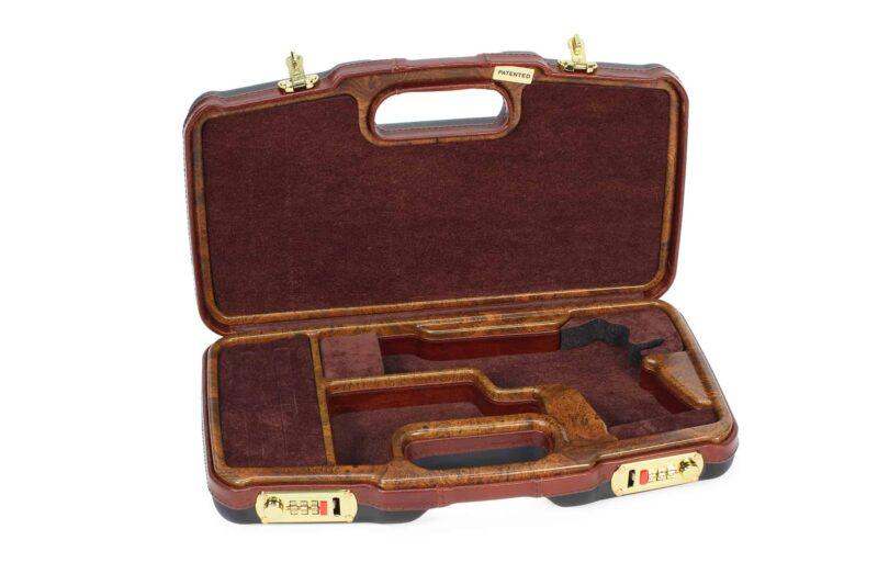 Negrini Luxury 1911 Handgun Case - 2018SLX/WOOD interior