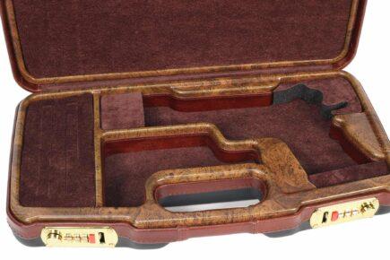 Negrini Luxury 1911 Handgun Case - 2018SLX/WOOD interior closeup