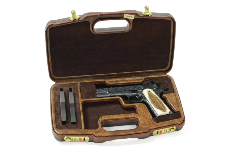Negrini Luxury 1911 Handgun Case - 2018SLX/WOOD Turnbull MFG 1911