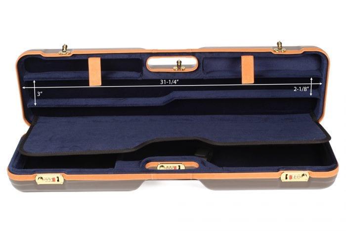 Negrini 1621BLX Combo Shotgun Case interior top dimensions