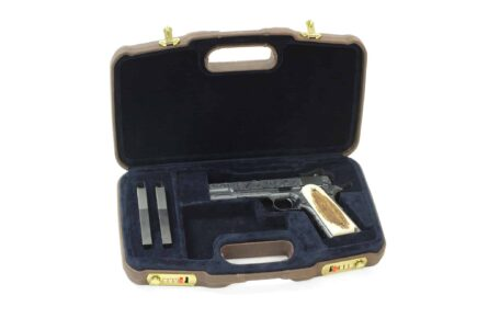 Negrini Handgun Cases - 2018SPL 1911 Leather handgun case Turnbull MFG 1911