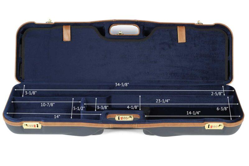 Negrini 1646LX-3C/4879 Three barrel Shotgun Case bottom dimensions