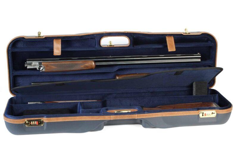 Negrini 1646LX-3C/4879 Three barrel Shotgun Case interior with shotgun