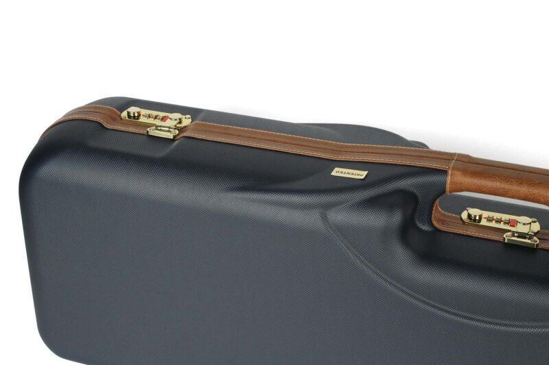 Negrini 1646LX-3C/4879 Three barrel Shotgun Case locks and leather handle