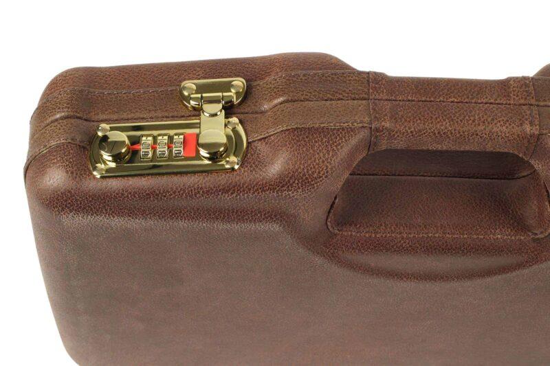 Negrini 2018SPL-WOOD/5386 1911 gun case - lock closeup