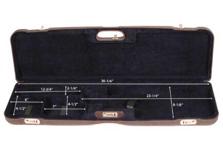Negrini Trap Single high rib shotgun case - 1657PL/5244 interior dimensions