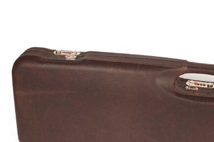 Negrini Trap Single high rib shotgun case - 1657PL/5244 lock detail