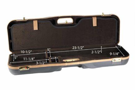 Negrini High Rib Combo Shotgun Case - 1646LX-2C/4765 - bottom dimensions