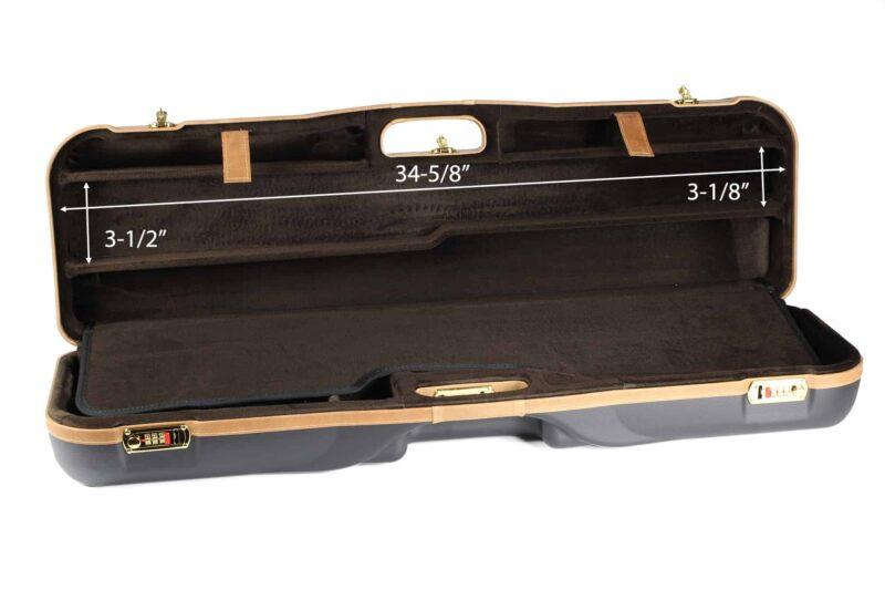 Negrini High Rib Combo Shotgun Case - 1646LX-2C/4765 - interior top dimensions