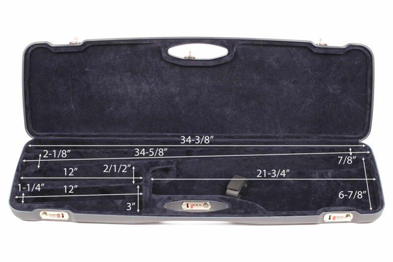 Negrini 1654LR-2C/5464 Sporting Combo Shotgun Case interior dimensions