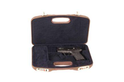 Negrini Luxury Leather GLOCK Handgun Case interior
