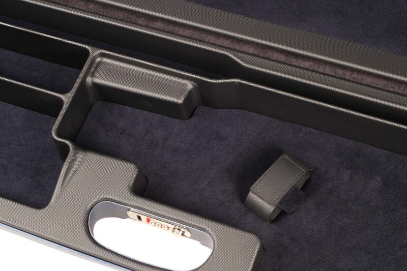 Negrini 1657R High Rib Trap Shotgun Case interior close up