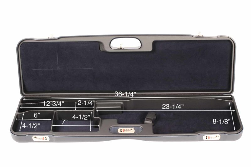 Negrini 1657R High Rib Trap Shotgun Case interior dimensions
