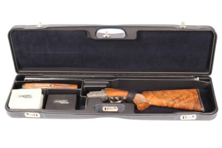 Negrini 1657R High Rib Trap Shotgun Case interior Zoli Shotgun