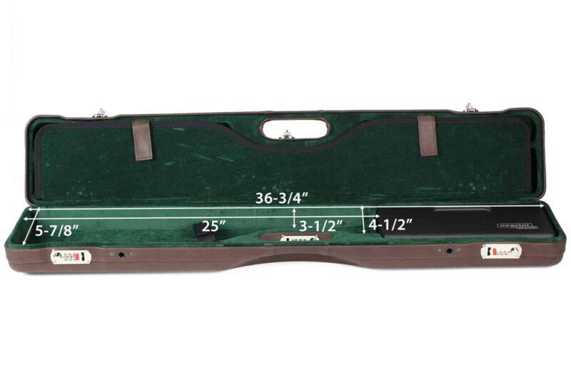 Negrini Luxury Italian Leather UNICASE - Negrini OU/SXS/Auto/Pump UNICASE Luxury Leather Travel Shotgun Case - bottom dimensions