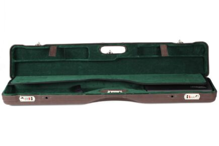 Negrini Luxury Italian Leather UNICASE - Negrini OU/SXS/Auto/Pump UNICASE Luxury Leather Travel Shotgun Case - interior top