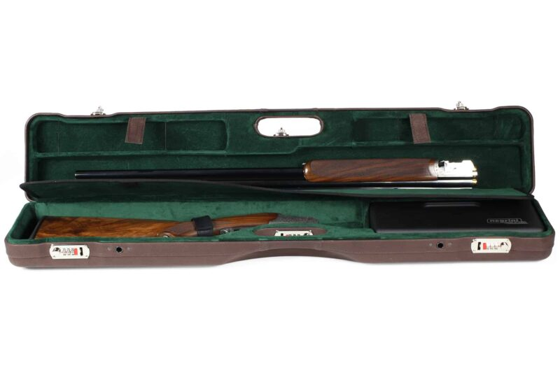 Negrini Luxury Italian Leather UNICASE - Negrini OU/SXS/Auto/Pump UNICASE Luxury Leather Travel Shotgun Case - Zoli Pernice