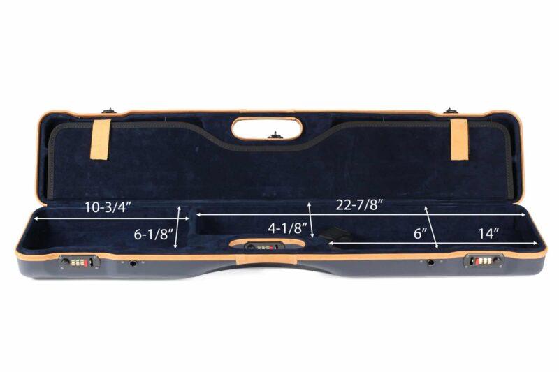 Negrini 16407LX/5643 Compact Sporting Shotgun Case interior bottom dimensions