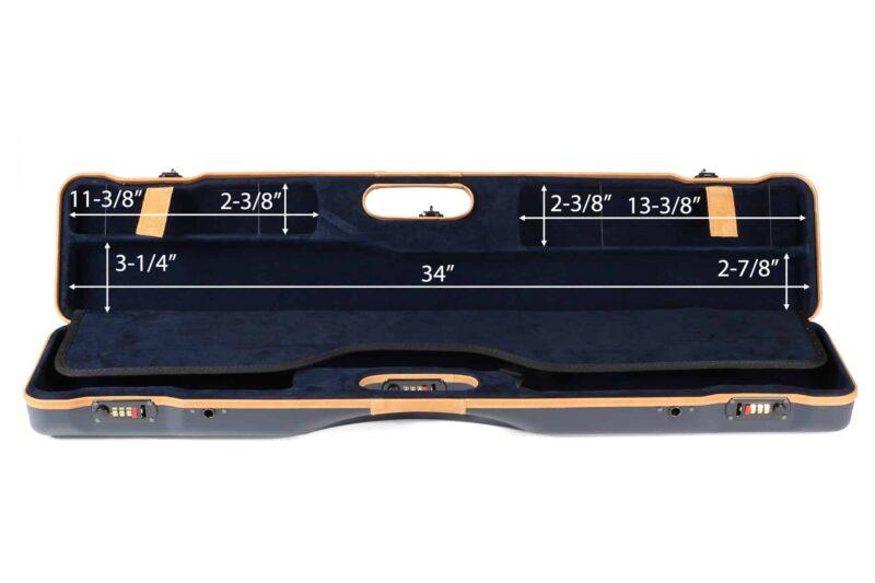 Negrini 16407LX/5643 Compact Sporting Shotgun Case interior top dimensions