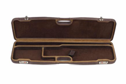 Negrini Superlative Luxury Leather Shotgun Case 1605PPL/5224 - interior