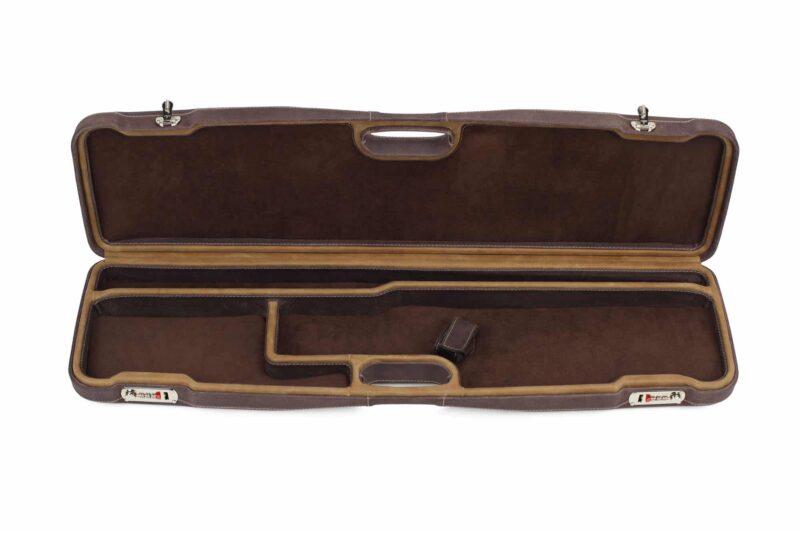 Negrini Superlative Luxury Leather Shotgun Case 1605PPL/5224 - interior