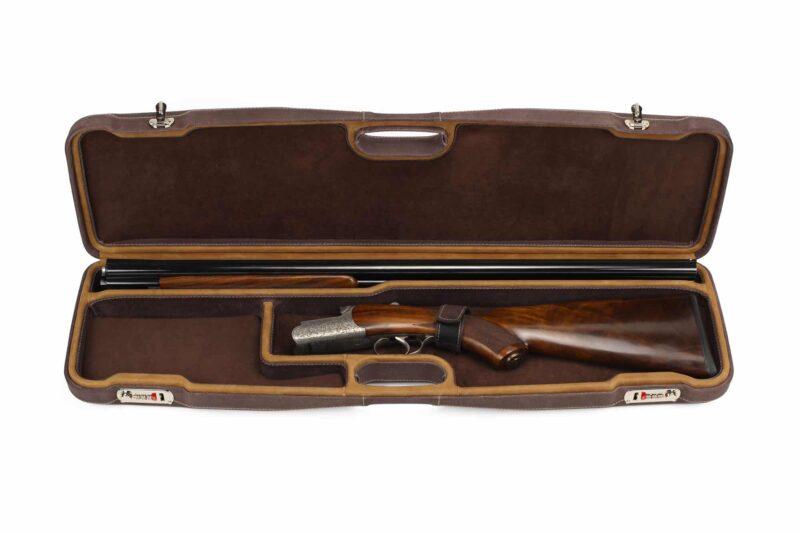 Negrini Superlative Luxury Leather Shotgun Case 1605PPL/5224 - Zoli Pernice