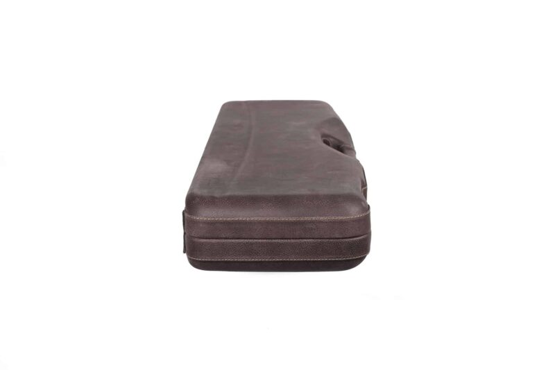 Negrini Superlative Luxury Leather Shotgun Case 1605PPL/5224 - side profile