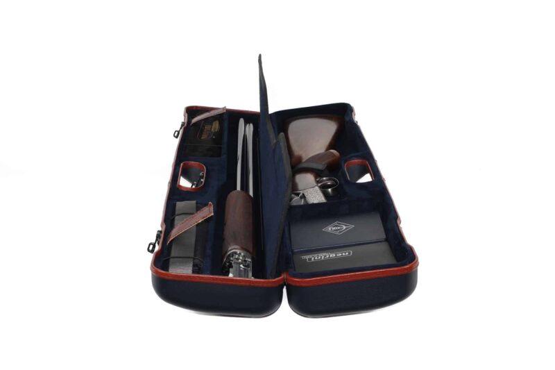 Negrini 16405LX/5708 Uplander Travel Shotgun Case with Zoli Pernice side view