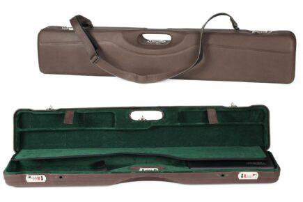 Negrini Luxury Italian Leather UNICASE - Negrini OU/SXS/Auto/Pump UNICASE Luxury Leather Travel Shotgun Case - 16406PL-UNI/5592