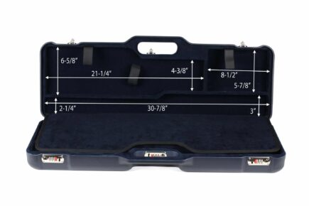 Negrini 1674LR 1 Gun 4 Barrel Hunting Case interior top dimensions