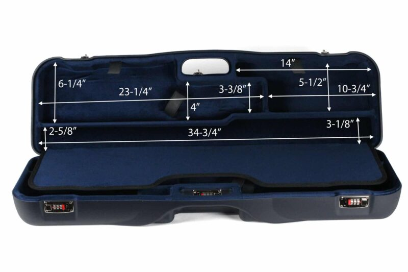 Negrini OU/SxS Two Sporting Shotgun Takedown Shotgun Case - interior top dimensions